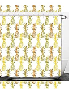 Beshowere Shower Curtain Pinecone Decor Pineconetree Realtree Spring Summer Theme Polyester
