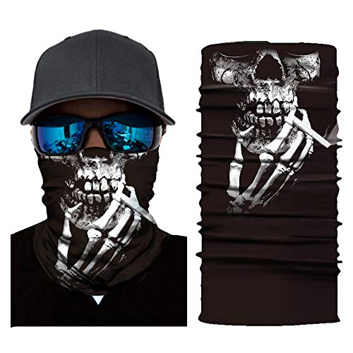 mxjeeio Unbekannt Bedrucktes Multifunktionstuch mit verschiedenen Designs - Atmungsaktive Sturmhaube als Motorradmaske, Ski Maske, Radfahren, Halstuch