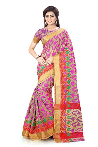 Royal Export Women's Cotton Silk Saree ( apx pink flwrr)