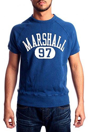 Franklin-Marshall-True-Royal-Short-Sleeved-Sweatshirt