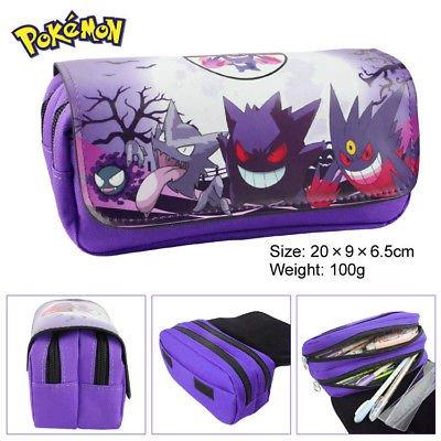 Estuche-para-lpices-de-Pokemon-de-Gengar-para-nios-2-compartimentos