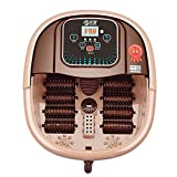 Fußsprudelbad Becken Elektrisch Spa Wanne Massage Massagegerät Automatisch Intelligent Heizung Zum Waschen Becken Kabellos Fernbedienung Steuerung EIN Taste Anfang Rolle