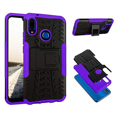 ECENCE Handyhülle Schutzhülle Outdoor Case Cover kompatibel für Huawei P20 Lite Handytasche Lila 22010401