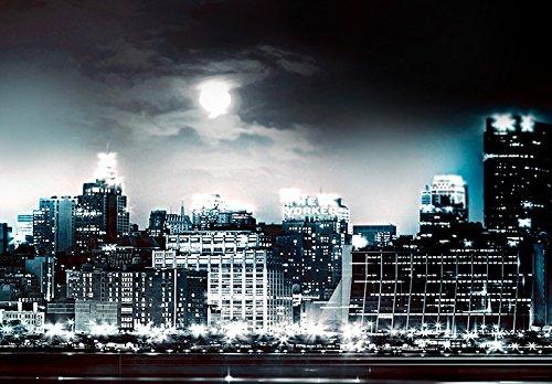 Bilder 200×100 cm – 3 Farben zur Auswahl ! XXL Format! Fertig Aufgespannt TOP Vlies Leinwand – 5 Teilig – New York Abstrakt Wand Bild Bilder Kunstdrucke Wandbild 020111-29 200×100 cm B&D XXL - 5