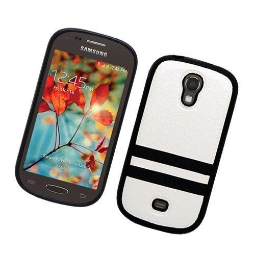 Eagle Cell Hybrid-Schutzhülle für Samsung Galaxy Light / T399, TPU, in Einzelhandelsverpackung, Weiß/Schwarz (Cover T399 Samsung Für)