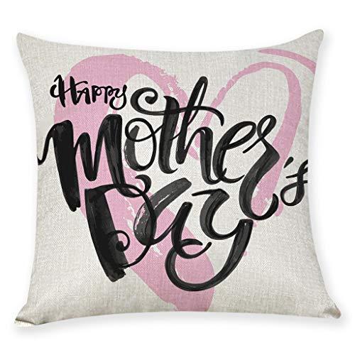 erthome Home Decor Kissenbezug Glücklich Muttertag Kissenbezug Dekokissen Abdeckungen 45 cm x 45 cm Schlafzimmer wohnzimmer baby raumdekoration (45cm x 45cm, C)