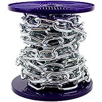 Solide chaîne en acier plaqué zinc brillant - Bobine entière et coupes à la demande