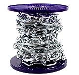 Glänzende Stahlkette mit BZP-Zinkbeschichtung, stark und robust, volle Spule und stückweise erhältlich