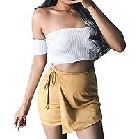 CLOOM Damen Kurz Oberteil Elastischen Bandeau Sommer Schulterfrei Shirt Damen Sexy Oberteile Elegant Tank Tops... preisvergleich bei billige-tabletten.eu