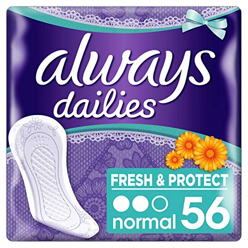 Always Fresh & Protect Slipeinlagen Normal mit Calendula 56 St.