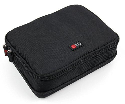 DuraGadget - Sichere Aufbewahrungs- und Transporttasche für Ihren Beamer / Projektor Acer C120 | C205 |K137i + Zubehör in Schwarz - Blau