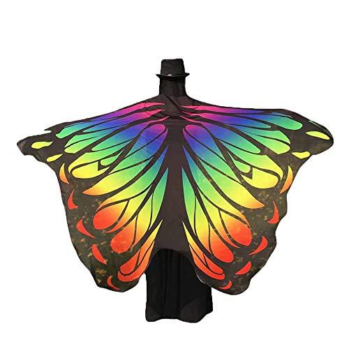 YWLINK Karneval Retro Umhang Pfau SchmetterlingsflüGel Chiffon Schal - Einzigartige Gruppe Kostüme Für Halloween