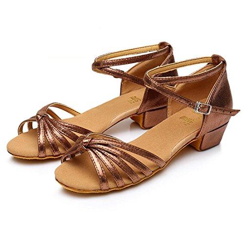 Wxmddn Danse Latine Chaussures Marron Chaussures De Danse Enfants Adultes Doux Exercice De Semelles De Chaussures Chaussures De Danse Quatre Saisons Brown