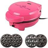 Backen - Máquina 2 en 1 para hacer popcakes y cupcakes (700W), color rosa