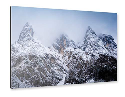 artboxONE Alu-Print 60x40 cm Gipfel und Wolken von Künstler Martin Wasilewski
