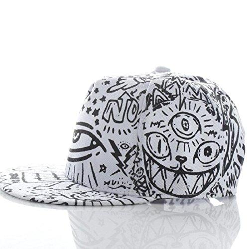Amlaiworld Unisex Berretto da baseball,Moda Vintage Flat Bill cappello Hippie occhio Hiphop berretto regolabile