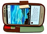 Avcibase 4260310648989 Flip-Style Etui für Samsung Galaxy S3 Blau/Braun