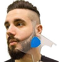 Aberlite Barba Shaper - Barba Lineup Tool W/Barber Pencil (Blanco)|Muchos EstilosAntideslizante: La Mejor Herramienta Para Modelar La Barba (Azul) Funciona Con Recortadora