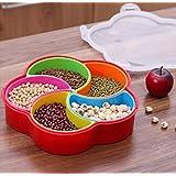 LUKZER 1 PC Dry-Fruit Box/Chocolate Box/Masala Box for Kitchen, Multi Color (5 Bowls)