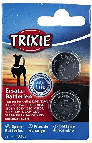 Trixie Batterie di Ricambio, 2x CR2032-Adatto Flashers 12761/12762/13051-13054/13061-13064/13081/13083/13261-13265/1327-1329/13372/13373/13452/13453/14795/14796/30211-30213