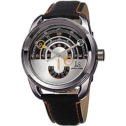 Joshua & Sons Reloj con movimiento cuarzo japonés Man JX129OR 45 mm