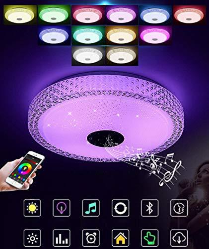 YWYU Bluetooth Música LED Lámpara de Techo Teléfono móvil APLICACIÓN Control Inteligente...