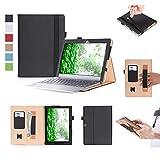 ISIN Tablet Fall Serie Premium PU-Leder Schutzhülle für Lenovo Ideapad MIIX 320 10,1 Zoll Windows 10 Convertible 2 in 1 Tablet PC mit Handschlaufe und Kartenschlitz (Schwarz)