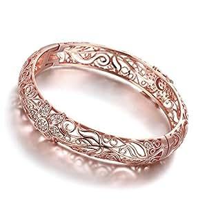 Placcato oro 18K fiore modello braccialetto braccialetti con cristalli Australia