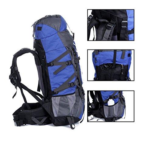 80 + 20L gro?e Kapazit?t im Freien Bergtaschen Reise Rucksack Camping Rucksack Blau
