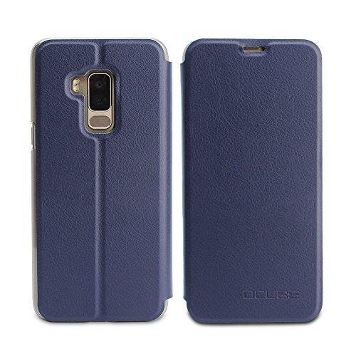 Frlife Hülle für Bluboo S8, Bookstyle Handyhülle Premium PU-Leder klapptasche Case Brieftasche Etui Schutz Hülle für Bluboo S8 Blau