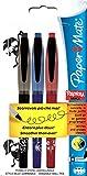 Paper Mate S0190882 Radierbarer Kugelschreiber Replay Max 3-er Blister Strichbreite M, Schreibfarbe - schwarz/blau/rot