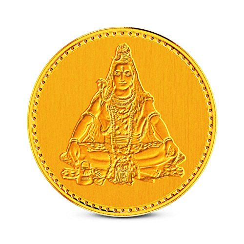 Zaamor Diamonds 1 gm, 24k (999) Yellow Gold Precious Coin  available at amazon for Rs.3152