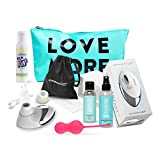 Womanizer Pro Set Klitoris-Stimulator mit Liebeskugeln+ Gleitgel+ Toycleaner+ Toybag+ Wärmendes Massageöl, von AMORELIE