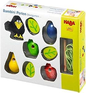 HABA 3397 Bambini - Juego Infantil para enhebrar, diseño de Frutas