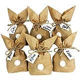12 Easter Bunny per armeggiare e riempimento - regalo creativo per la Pasqua con 12 sacchetti di carta, corda e pompon