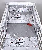 BABYLUX Kinderbettwäsche 2 Tlg. 90 x 120 cm Bettwäsche Bettset Babybettwäsche (84. Eisbär Grau)