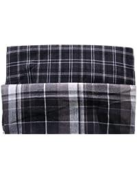Octave - Lot de 2 boxers - 100 % coton tissé doux - homme - gris/blanc - taille S