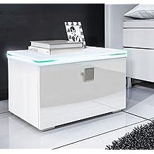 Chevet blanc laque - Table de chevet noir pas cher ...