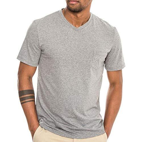 Maglietta da uomo manling7* for running yoga semplice alla moda uomini stampa tee shirt manica splice casual sport lapel rinfrescante e semplice in cotone palestra e tempo libero
