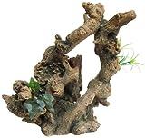 Ellie-Bo tronco d' albero in poliresina dipinta a mano, ornamenti per acquario, 24.5x 19x 25cm