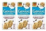 Genius Sans Gluten - Biscuit Sans Gluten - Petit Déjeuner- Pépites de chocolat - (5x28g) 140 g - Lot de 3