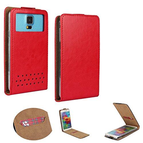 Handy Schutz Hülle | für Allview X3 Soul Plus | Slim Flipstyle mit Magnetverschluss | Flip Nano L Rot
