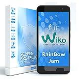 EAZY CASE 1x Panzerglas Bildschirmschutz 9H Härte für WIKO Rainbow Jam, nur 0,3 mm dick I Schutzglas aus gehärteter 2,5D Panzerglasfolie, Bildschirmschutzglas, Transparent/Kristallklar