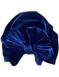 Bonnet Bébé, Enfant Jeune Fille Garçon Enfant Velours Arc Noeud Turban  Beanie Tête Porter Chapeau 9c161c45b63