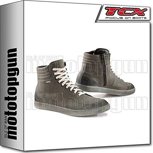 TCX Scarpe Stivali Moto 9555G X-Groove Gore-Tex Urban Grigio tg 48/13