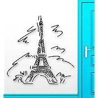 GGWW Wall Sticker Vinyl Decal Eiffel Tower Paris France Travel