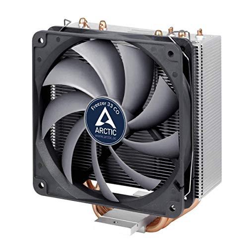 ARCTIC Freezer 33 CO - Semi-Passiver Tower CPU Luftkühler, Prozessorlüfter für Intel und AMD Sockel bis 150 Watt TDP Kühlleistung, Cooler mit 120 mm PWM Lüfter - Leise und Effizient - Natürliche Kurve Tipps