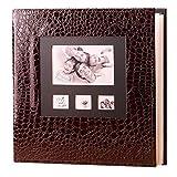 QQA Álbumes de Fotos Páginas Autoadhesivas, Álbum de Fotos de Piel Extra Grande con 600 Fotos 6X4...