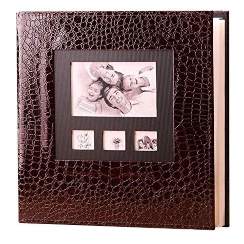 klebende Seiten, Extra großes Vintage-Fotoalbum aus Leder mit 600 Fotos (6 x 4, 10,2 x 15,2 cm, 37 x 34 x 6 cm, andere Größe) (Color : Black) ()