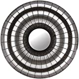 The Home Mirror Round MESH IR535 Grey Colour Iron 77.5X77.5X3.5 Cm